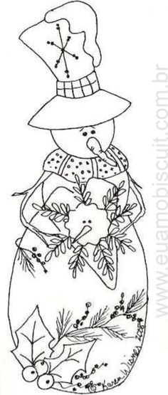Snowman To Paint Find This Pin And More On Christmas