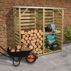 High quality log stores at great value prices. Store your firewood the best way with our log storage units. Hidden Door Hinges, Sheds Direct, Buy Shed, Slatted Shelves, Bin Store, Pressure Treated Timber, Wooden Greenhouses, Shed Doors