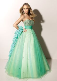 f66af31f63 Strapless A-line Shaped Beading Aqua Prom Dress. Latest style prom dress in  a line silhouette.