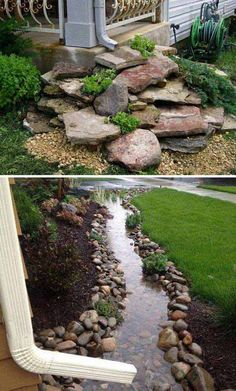 Outdoors Discover 50 Outstanding Landscape Drainage Design Ideas Some Things That Are Needed And Not For La. 50 Outstanding Landscape Drainage Design Ideas Some Things That Are Needed And Not For Landscape Drainage 14 Home Landscaping, Front Yard Landscaping, Backyard Patio, Rocks In Landscaping, Backyard Drainage, Backyard Ideas, Inexpensive Landscaping, Backyard Privacy, Landscaping Software