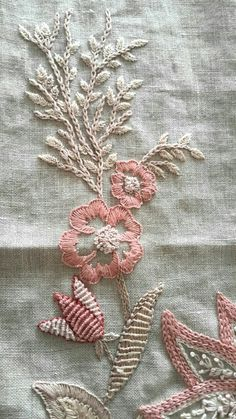 Love the variation of stitches Hand Embroidery Stitches, Vintage Embroidery, Beaded Embroidery, Cross Stitch Embroidery, Hand Stitching, Embroidery Designs, Bargello, Sewing Crafts, Needlework