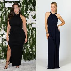 Ashley Graham Maxi Dress Lookalike || Milly Maxi Dress in Navy by P.S. Frocks