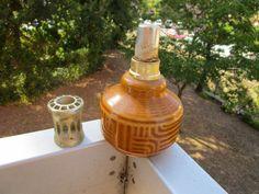 Lampe ancienne marqué LAMPE BERGER MADE IN FRANCE avec tampon bleu à voir!