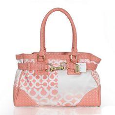 #ValueSpree Coach Knitted Logo Large Pink Satchels ERX