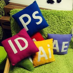 Adobe Creative Cloud pillow cushions by My Suite Stuff