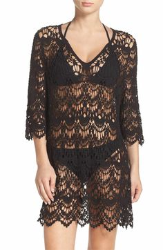 Main Image - Surf Gypsy Crochet Cover-Up Tunic