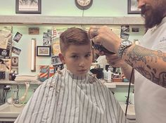 slick haircut with a quiff, in progress Boy Haircuts Short, Great Haircuts, Boy Hairstyles, Kids Barber, Short Hair Cuts, Short Hair Styles, Barber Shop Haircuts, Latest Pics, Boy Shorts