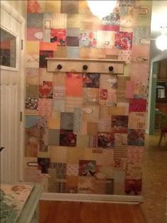 Decoupaged wall