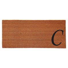 Home & More Monogram Doormat, Black