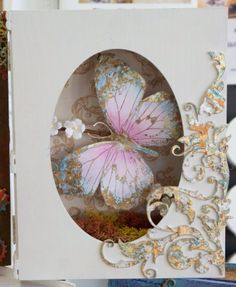 Indigoblu big butterfly stamp