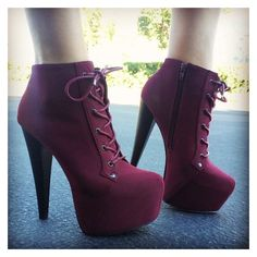 Shoes: heels high heels girl girly platform lace up boots purple high... ❤ liked on Polyvore featuring shoes, boots, high heel boots, purple platform shoes, purple shoes, lacing boots and platform shoes