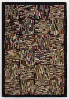 Hit or Miss Hooked Rug: Circa 1930; Massachusetts More