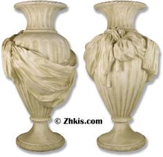 Tall garden urn with beautiful design and style. This urn features a grape the covers its and makes it very formal looking. Made of durable fiberglass and suitable for outdoor weather with several finish options available. Large Garden Planters, Garden Urns, Indoor Planters, Indoor Outdoor, Outdoor Garden Statues, Under The Tuscan Sun, Stone Pictures, Picture Show, Opera