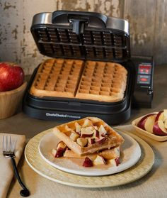 Maple-Glazed Apple Fritter Waffles Recipe