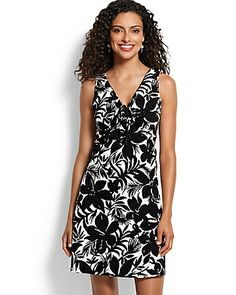 Tommy Bahama - Jungle Plumeria Tie-Front Dress