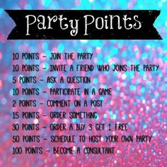Hey ladies! This will be our point system for the party! Prizes will be awarded to 1st, 2nd, and 3rd places to the people with the most amount of points!