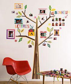 Un arbre dessiné en masking tape // a tree drawn with Masking Tape