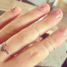 HAPPY BIRTHDAY nailpolish & Catbird rings.