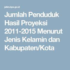 Jumlah Penduduk Hasil Proyeksi 2011-2015 Menurut Jenis Kelamin dan Kabupaten/Kota