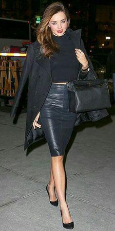 Love leather. That black & blue look fantastic together#
