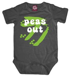 Not only is this baby ones cute and profound, but its 100% organic!  And not only is it organic, its made of bamboo! Silcky soft and made of hypoallergenic, anti-microbial bamboo organic cotton, these onesies wick water up to four times faster than cotton.  Processed naturally, and with PVC-free, water-based screen print.Packaged in a sweet gift box, this Peas Out onesie is sure to be a hit as a baby shower gift, new baby gift or birthday gift!