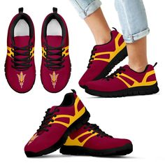 Line Amazing Bottom Arizona State Sun Devils Sneakers – Best Funny Store
