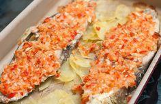 Pescado sudado al horno con papas