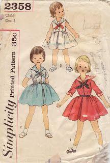 Retro-inspired Girls' Sailor Dresses from blog Living in Lilliput
