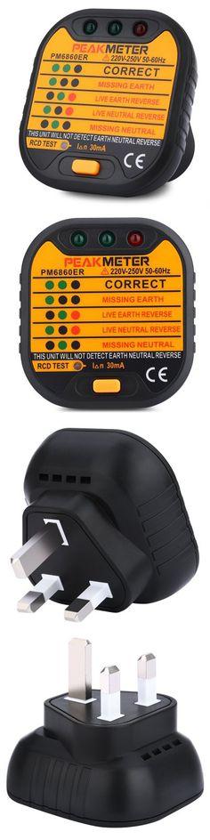 PEAKMETER PM6860ER UK Plug 220V - 250V Socket Tester