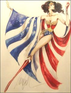 Wonder Woman  -1970's Costume Concept Sketch by Donfeld for The New Adventures of Wonder Woman