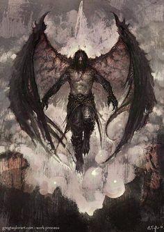 Raven Lord - With Walk-through by GregTaylorArt on DeviantArt - Garbril, Son of Hellas. Demon of Decay - Dark Fantasy Art, Fantasy Artwork, Dark Art, Fantasy Men, Fantasy Creatures, Mythical Creatures, Kunst Tattoos, Art Tattoos, Angel Warrior