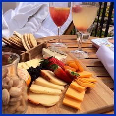 A little cheese plate out by The Spa!