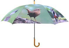 Leuke tuinvogels op de TP178 paraplu van Esschert Design. Te koop bij www.robanjer.nl