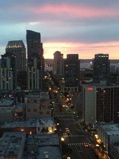 San Diego at sunset.