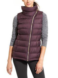 downabout vest | athleta | wild raisin