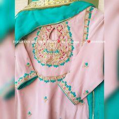 36 New Ideas baby dress pakistani Designer Punjabi Suits Patiala, Punjabi Suits Designer Boutique, Boutique Suits, Indian Designer Suits, Embroidery Suits Punjabi, Embroidery Suits Design, Embroidery Fashion, Hand Embroidery, Embroidery Designs