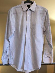 000ba4e3e899 Jos A Bank White Color Striped Dress Shirt Men s Slim Fit 15.5 X 33  Traveler