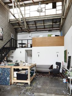 Artist Fred Fowler in his Footscray studio. Photo – Eve Wilson for… Loft Studio, Studio Room, Dream Studio, Painters Studio, Art Studio Design, Design Design, Design Ideas, Artist Loft, Minimalist Apartment