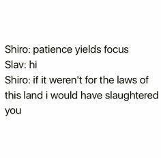 AHAHAHAHA   | voltron legendary defender | vld | shirogane 'shiro' takashi | slav
