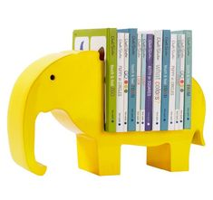 Totally awesome, but totally overpriced.  A 2x12 board and a scroll saw could make a whole jungle of these.  Lemon Elephant Bookshelf $124