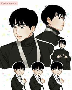 SEVENTEEN HOSHI Seventeen Song, Seventeen Hoshi, Seventeen Memes, Star In Japanese, Cartoon Fan, Art Folder, What To Draw, Kpop Fanart, Mingyu