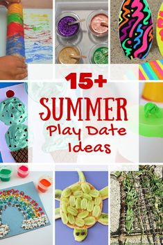 15+ summer play date ideas including crafts, fun activities and fun healthy snacks for kids