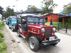 """A """"Willy's Jeep"""" taxi in Cocora Valley"""