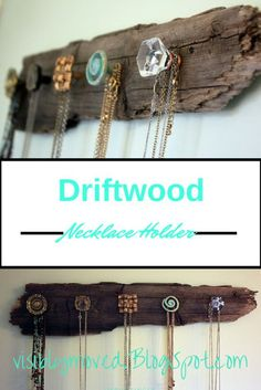 DIY Farmhouse Style Decor Ideas - Driftwood Necklace Holder - Rustic Ideas for Furniture, Paint Colors, Farm House Decoration for Living Room, Kitchen and Bedroom