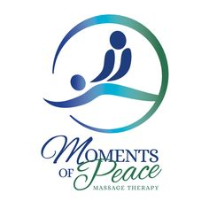 Moments of Peace - a logo designed for a massage therapist