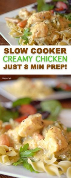 Slow Cooker Creamy Chicken from Platter Talk