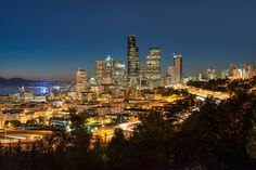 Seattle Sunset by Todd Landry, via 500px