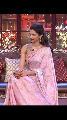 eda1247095 Deepika Padukone Gown, Set Saree, Saree Dress, Saree 2017, Stylish Sarees,