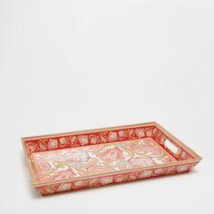 Image of the product Large rectangular paisley print tray