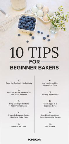 No more burned cookies! Few things can go wrong if you consult these tips for beginner bakers